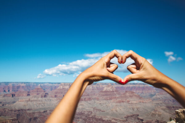 Herz am Canyon