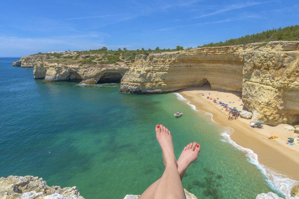 Ausblick von Klippe Algarve