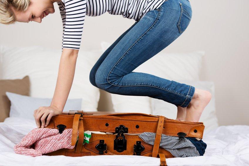Koffer packen vor der Reise
