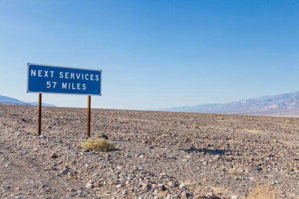 Service in der Wüste
