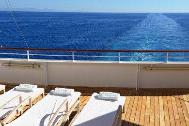 Deck Kreuzfahrtschiff
