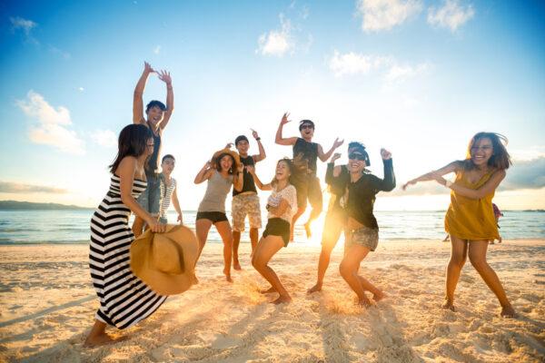 Tanzen am Strand