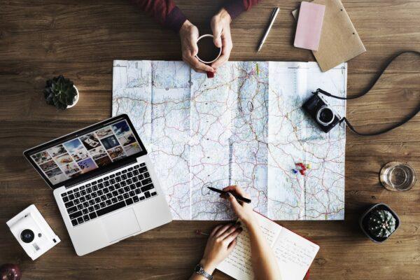 Reiseplanung Weltkarte
